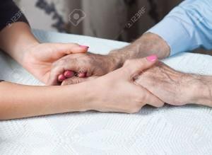 Holding hand besomeonetotell